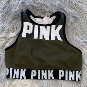 Victoria's Secret PINK Sports Bra Green